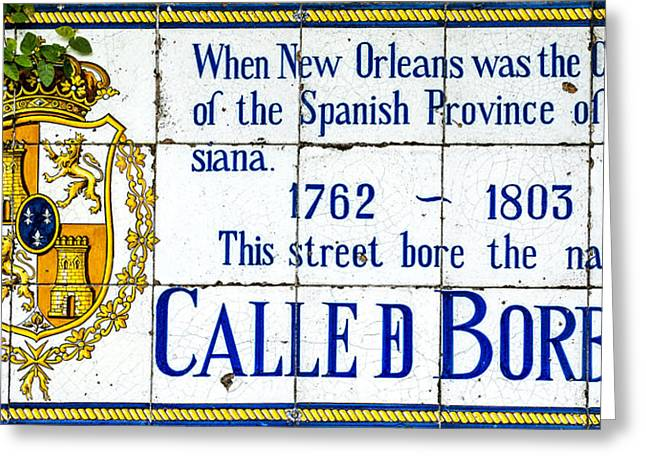 Calle D Borbon Greeting Card