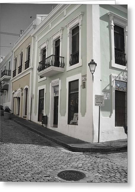 Calle De Luna Y Calle Del Cristo Greeting Card by Daniel Sheldon