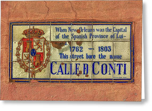 Called Conti Greeting Card