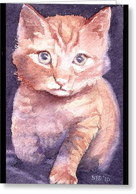 Callie's Cats Greeting Card by Sarah Buell  Dowling