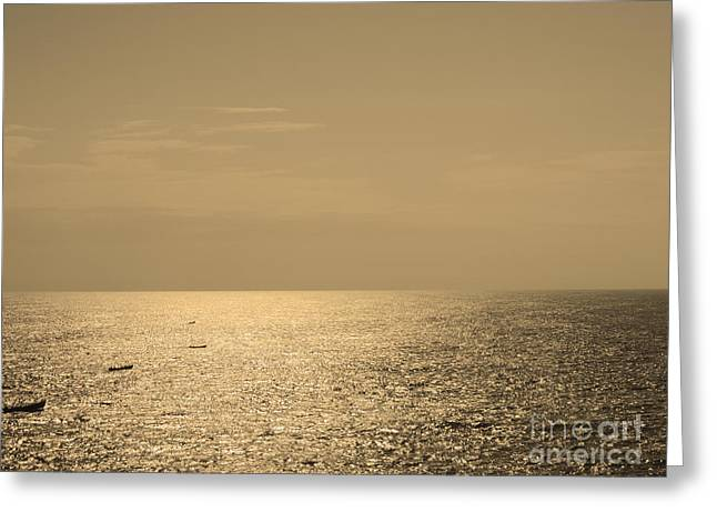Calm Arabian Sea Greeting Card