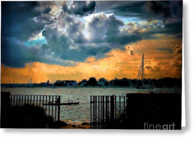 Calm Before Greeting Card by Robert McCubbin