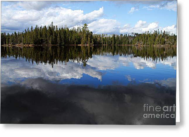 Calm Before The Storm Greeting Card by Larry Ricker