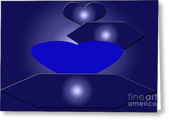 Calm Blue Six Greeting Card by Tina M Wenger