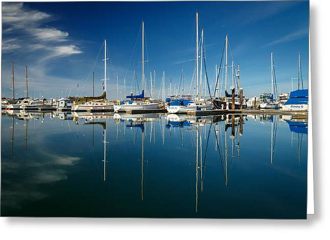 Calm Masts Greeting Card by James Eddy