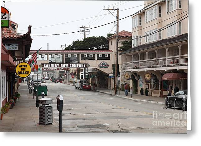 Calm Morning At Monterey Cannery Row California 5d24777 Greeting Card