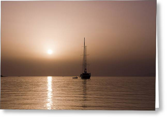 Calm Sea And Quiet Voyage Greeting Card
