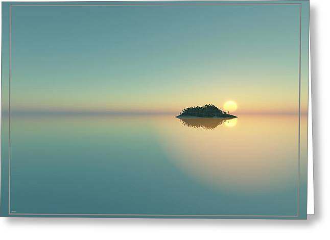 Calm Seas Sunset... Greeting Card