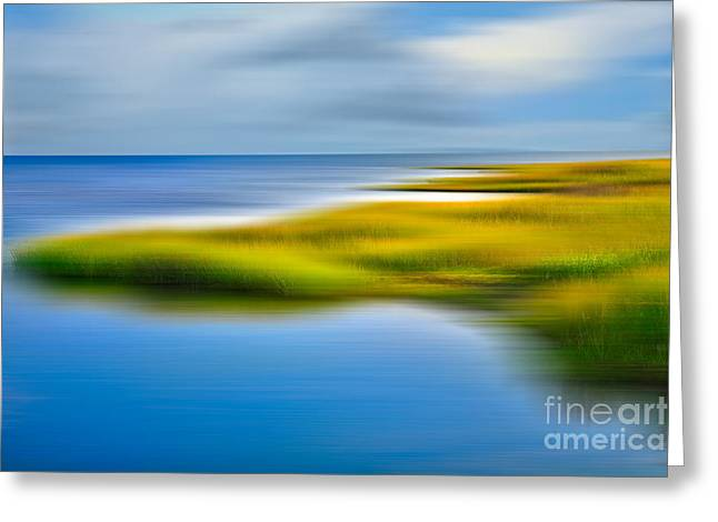 Calm Waters - A Tranquil Moments Landscape Greeting Card by Dan Carmichael