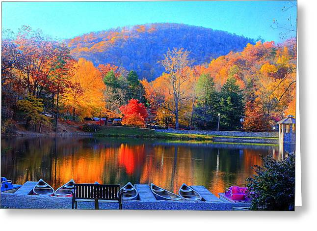 Calm Waters In The Mountains Greeting Card
