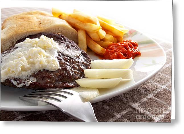 Caloric Meal Greeting Card by Sinisa Botas