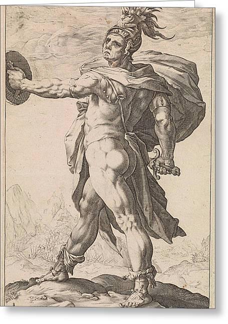 Calpurnius, Anonymous, Hendrick Goltzius Greeting Card by Hendrick Goltzius And Franco Estius