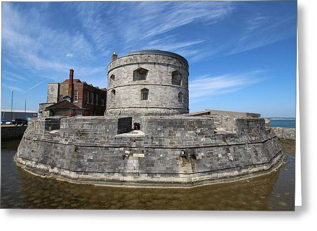 Calshot Castle Greeting Card by Donald Cusack