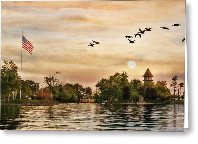 Calumet Island Water Tower Greeting Card by Lori Deiter
