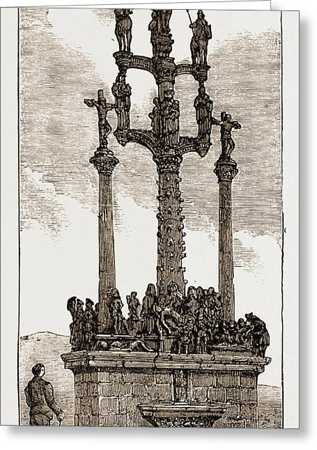 Calvary At St. Thegonnec, Brittany, France Greeting Card