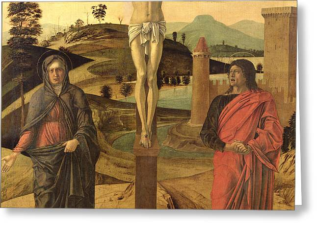 Calvary Greeting Card by Giovanni Bellini