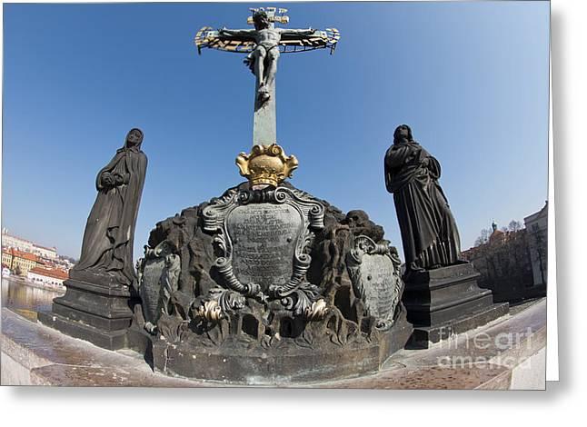 Calvary - Holy Cross Greeting Card by Michal Boubin