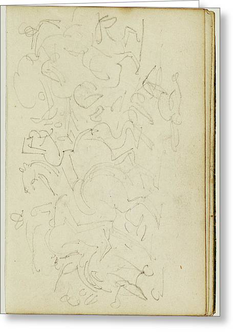 Calvary Skirmish Théodore Géricault, French Greeting Card