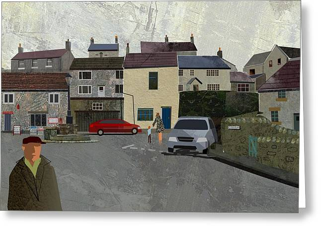 Calver Village Greeting Card by Kenneth North