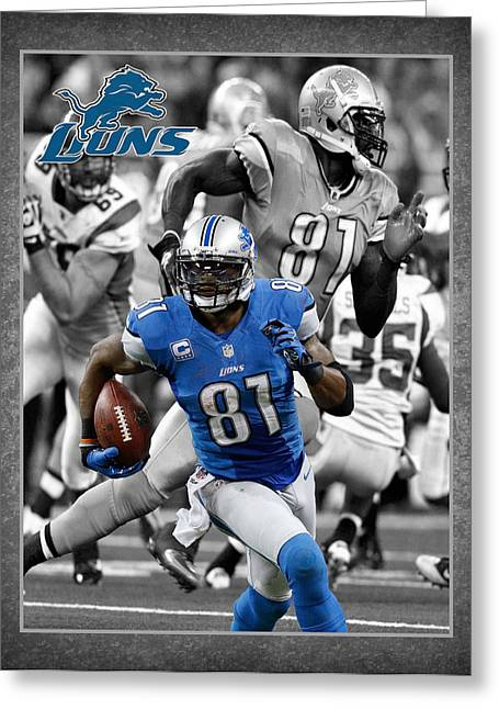 Calvin Johnson Lions Greeting Card