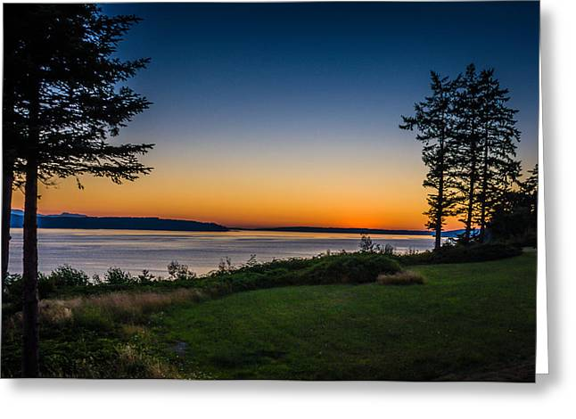 Camano Island Sunset Greeting Card by Puget  Exposure