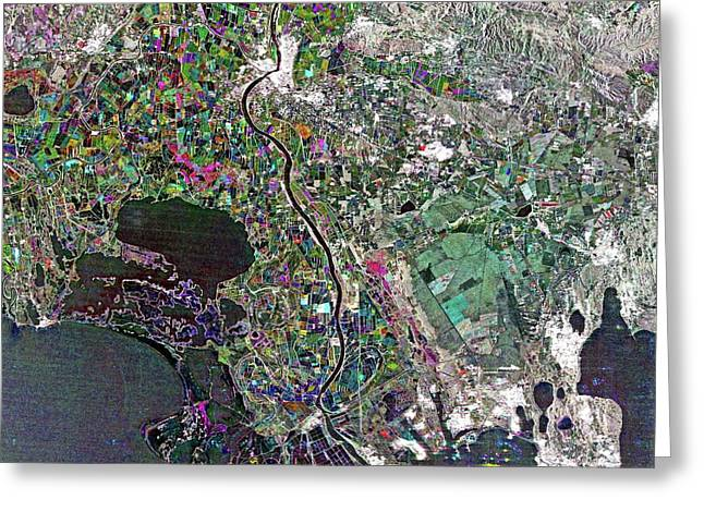 Camargue Delta Greeting Card by European Space Agency/jaxa
