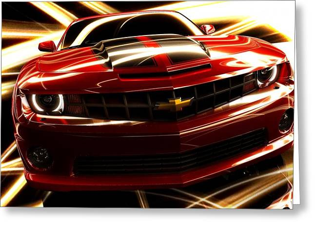 Camaro Ss Greeting Card by Art Work