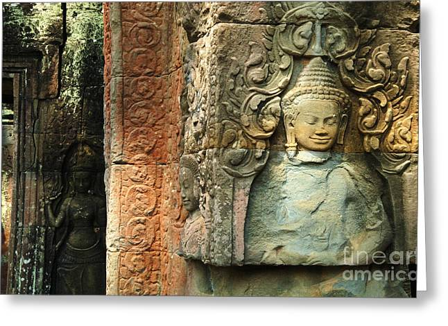 Cambodia Angkor Wat 1 Greeting Card by Bob Christopher