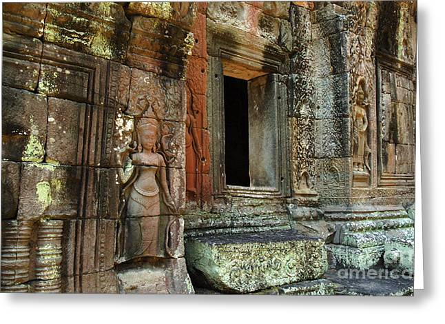 Cambodia Angkor Wat 2 Greeting Card by Bob Christopher