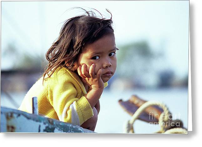 Cambodian Girl 01 Greeting Card