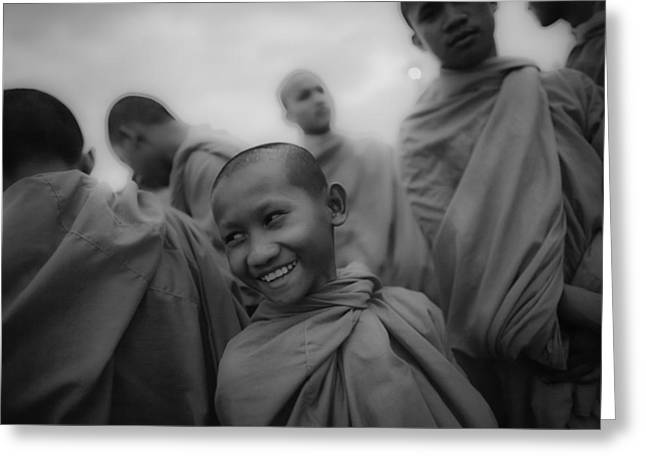Cambodian Novice Smiles Greeting Card by David Longstreath