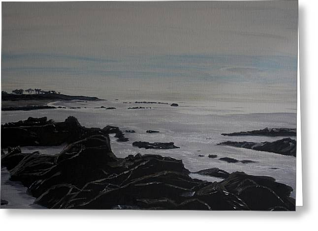 Cambria Tidal Pools Greeting Card by Ian Donley