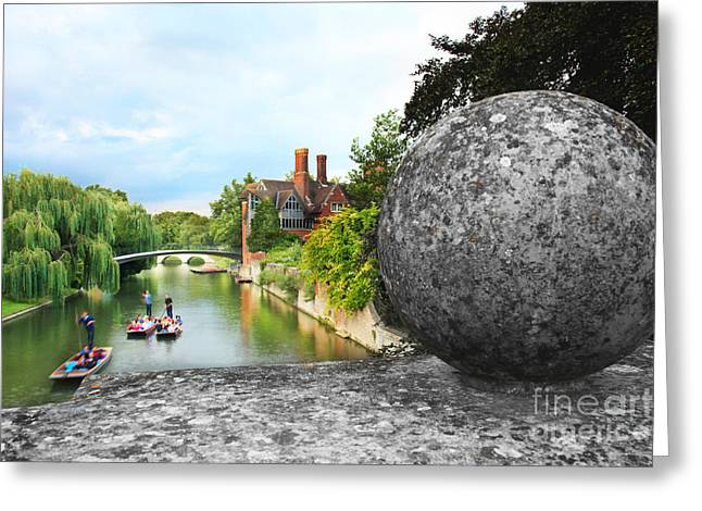 Punting In Cambridge Greeting Card