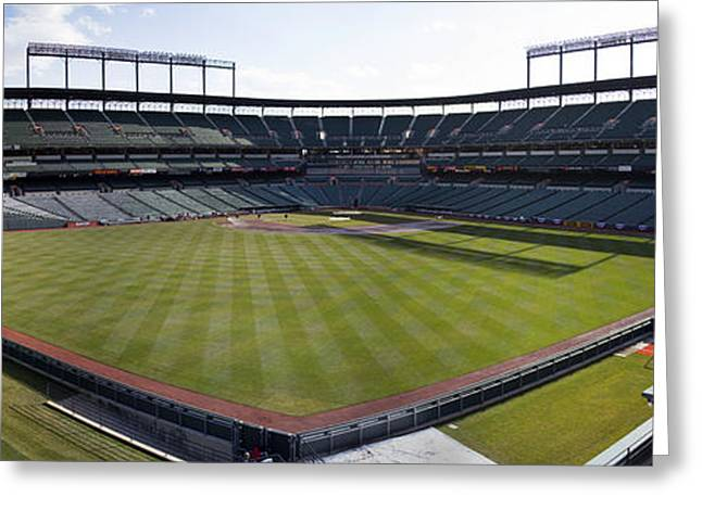 Camden Yards - Baltimore Orioles Greeting Card by Darleen Stry