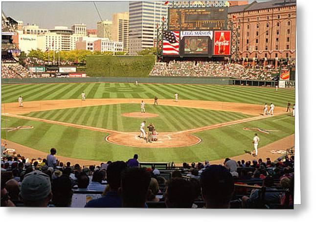 Camden Yards Baseball Game Baltimore Greeting Card by Panoramic Images