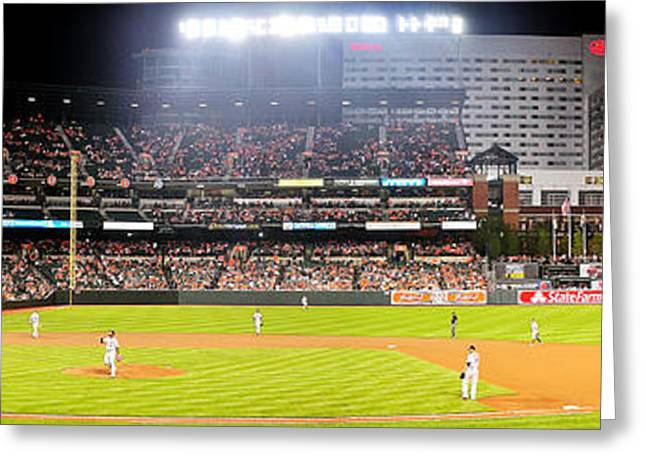 Camden Yards Greeting Card by Mike Baltzgar