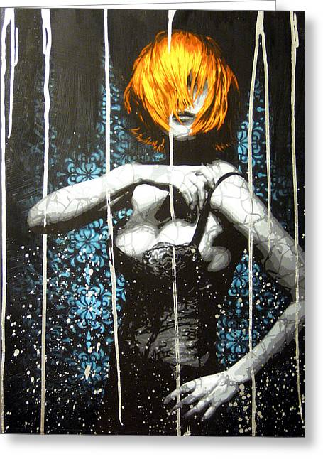 Spray Paint Art Greeting Cards - Came Back Haunted Greeting Card by Bobby Zeik