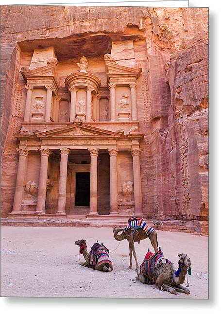 Camel At The Facade Of Treasury (al Greeting Card by Keren Su