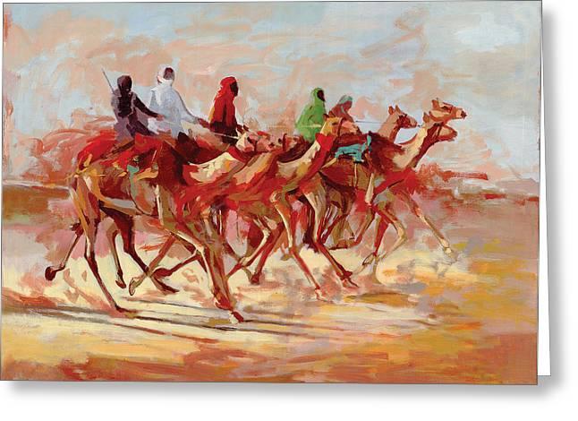 Camel Race Greeting Card