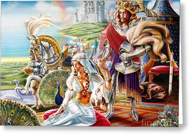 Camelot Greeting Card by Adrian Chersterman