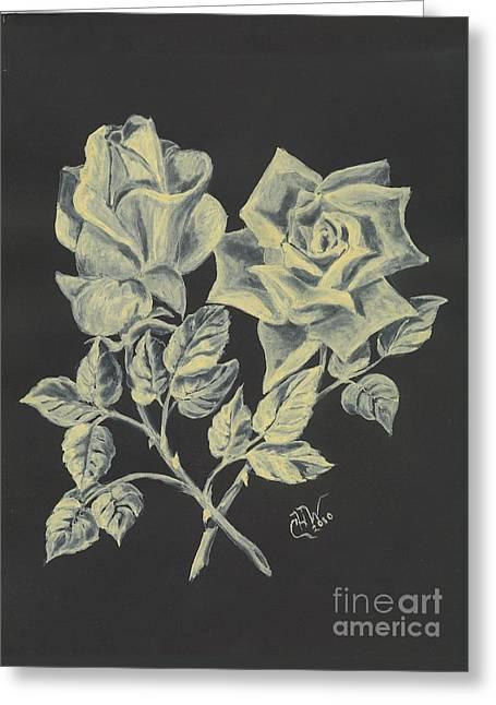 Greeting Card featuring the painting Cameo Rose by Carol Wisniewski