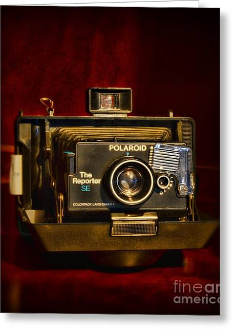 Camera - Polaroid  The Reporter Se Greeting Card