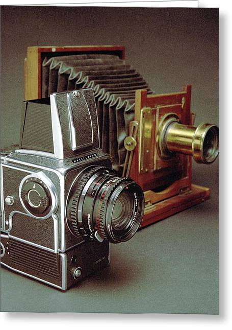 Cameras Greeting Card by Crown Copyright/health & Safety Laboratory Science Photo Library