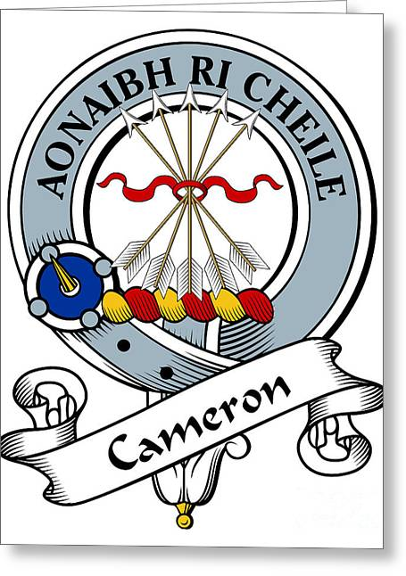 Cameron Clan Badge Greeting Card by Heraldry