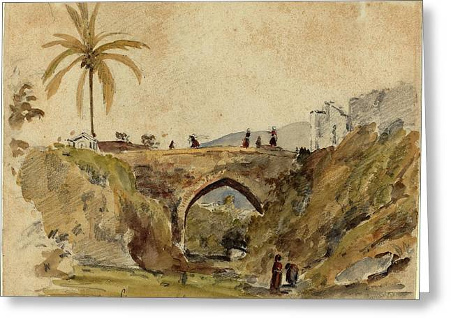 Camille Pissarro French, 1830 - 1903, Bridge At Caracas Greeting Card