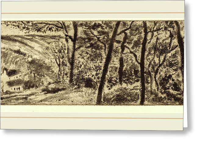 Camille Pissarro French, 1830-1903, Horizontal Landscape Greeting Card