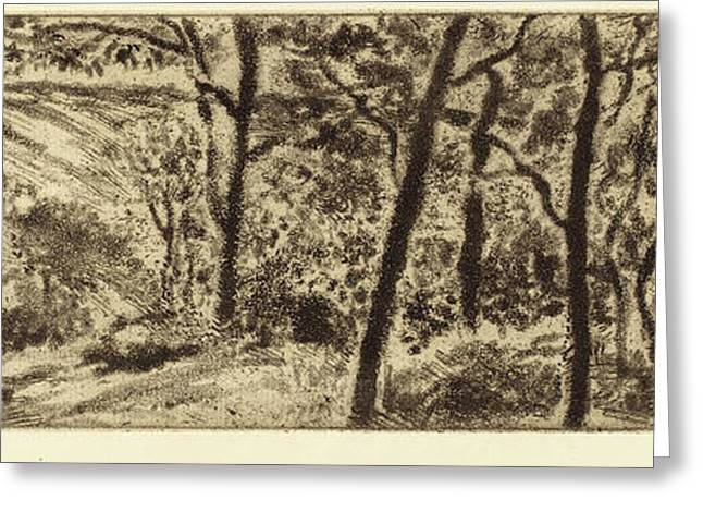 Camille Pissarro French, 1830 - 1903, Horizontal Landscape Greeting Card