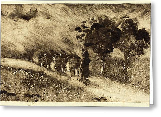 Camille Pissarro, French 1830-1903, Vacherie Le Soir Greeting Card
