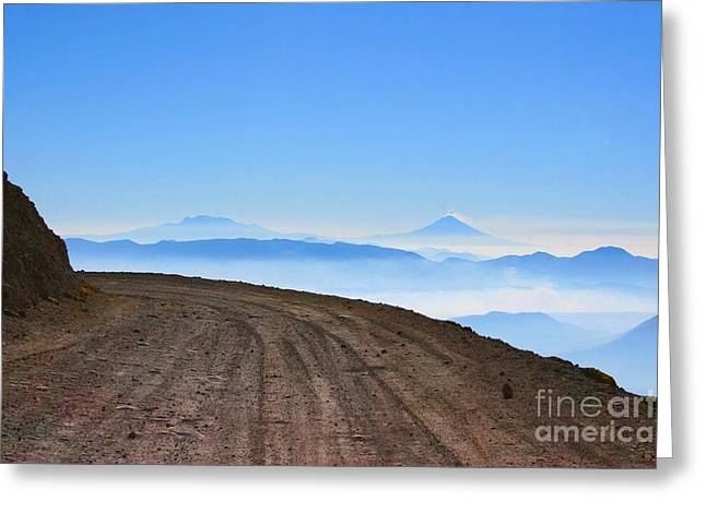 Camino En Volcan Nevado De Toluca Greeting Card