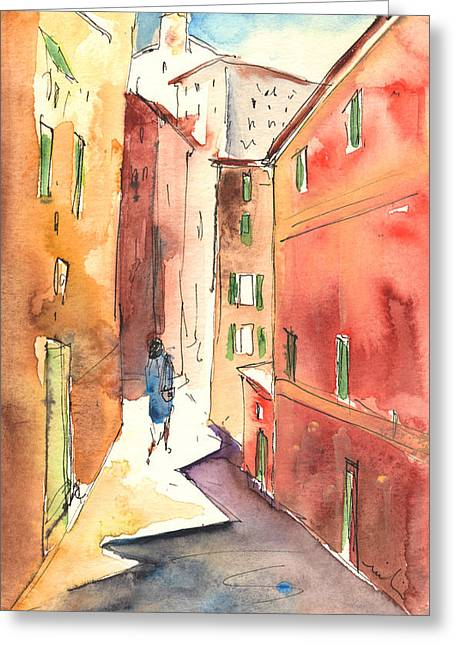 Camogli In Italy 03 Greeting Card by Miki De Goodaboom